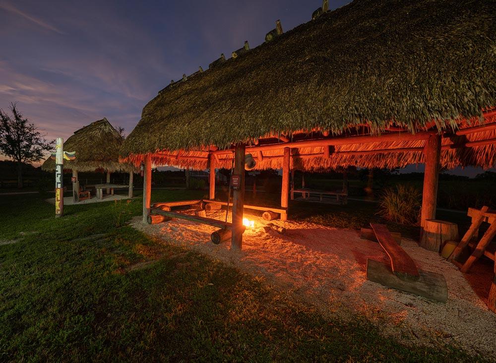 Seminole Village in the Florida Everglades